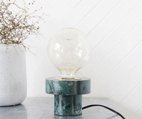 House Doctor Pin Bordlampe - Grøn Marmor