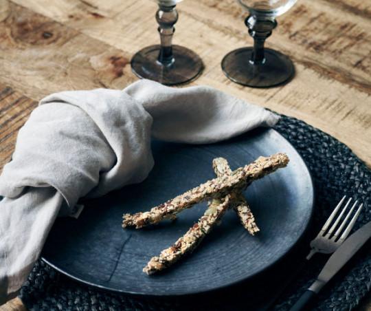 House Doctor Pion frokosttallerken - sort/brun