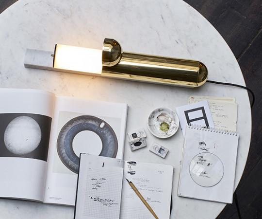 DCW Editions ISP Bordlampe - Hvid Marmor