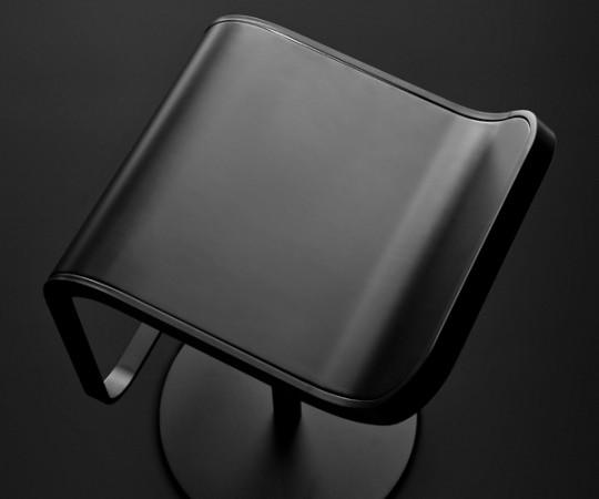 Lapalma Lem Barstol - Sort - Sort Læder -  Sædehøjde 55-67cm