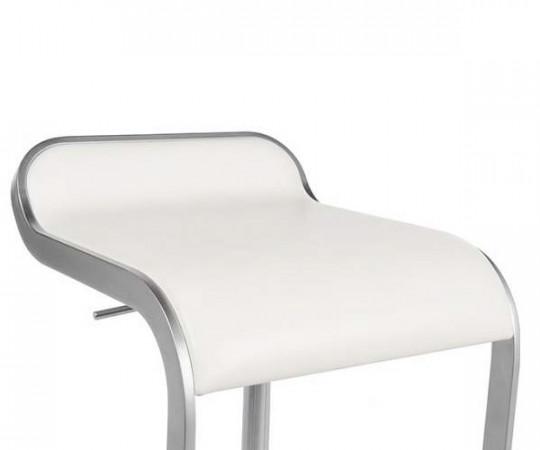 Lapalma Lem Barstol - Hvid Læder -  Sædehøjde 55-67cm