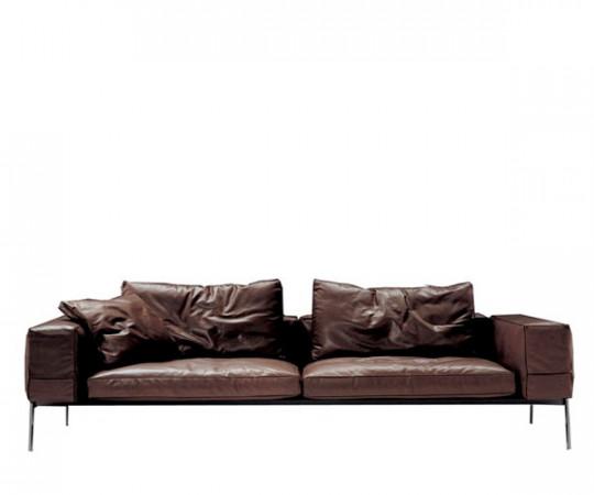 Flexform Lifesteel Sofa 240cm - Mørkebrun