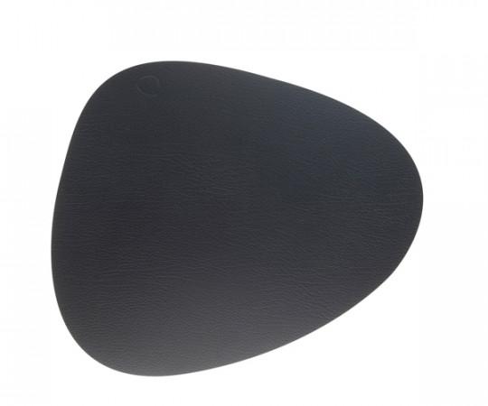 Linddna Tablemat Curve Double - Eg/Sort Bull - Large 37x44cm
