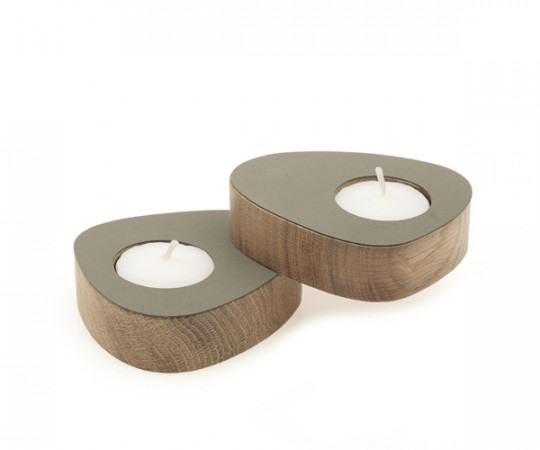 Linddna Curve Candle Tea Light Holder - Sæt a 2 stk.
