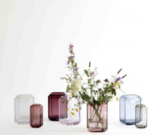 Louise Roe Jewel vase - H20 - Rosa