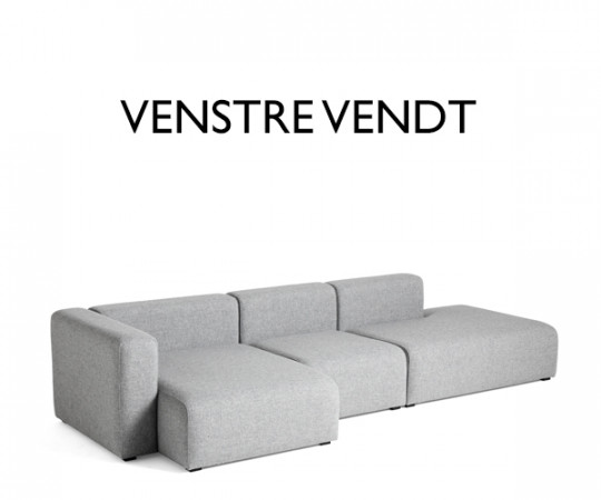 HAY Mags 3 Sofa - Combination 4 - Hallingdal 130