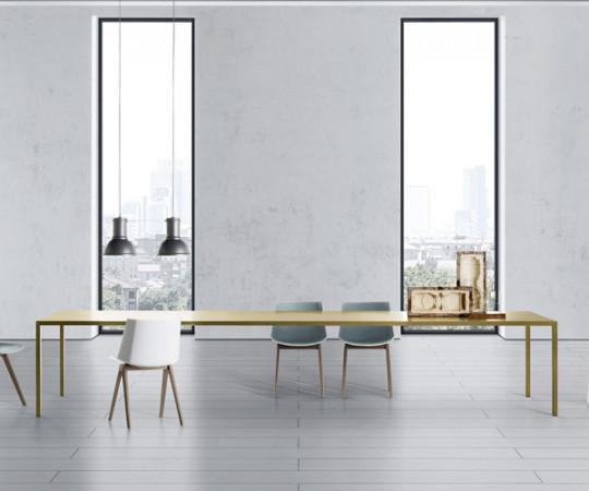 MDF Italia Tense Brass Table - 100x240cm