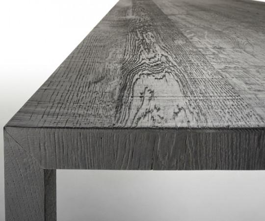 MDF Italia Tense Carbon Black Wood Table - 100x240cm