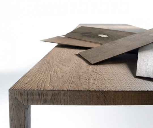 MDF Italia Tense Wood Table - 100x300cm