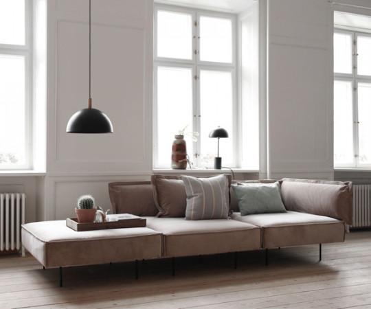 Handvark Three Seat Sofa with Chaise - Soho Stof