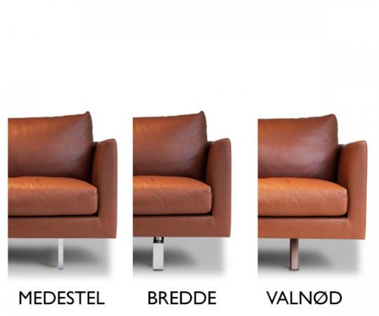 Montis Axel sofa Rancho Læder - 4 Pers.