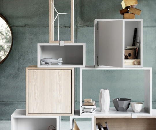 MUUTO Stacked 2.0 - Medium med Låge - Light Grey