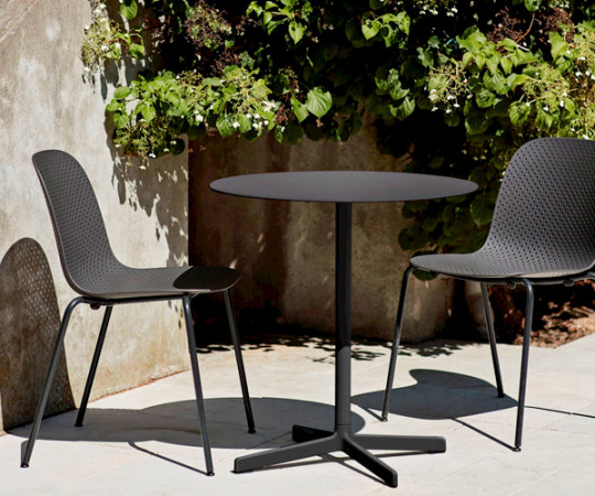 HAY Neu Table - Anthracite - Rundt