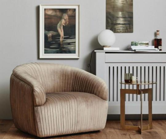 Nordal Lore loungestol - lys sand velour