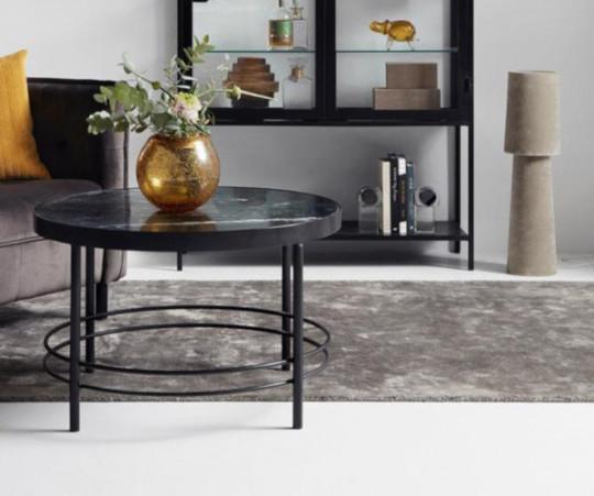 Nordal Noble tæppe - 200x290 - varmgrå
