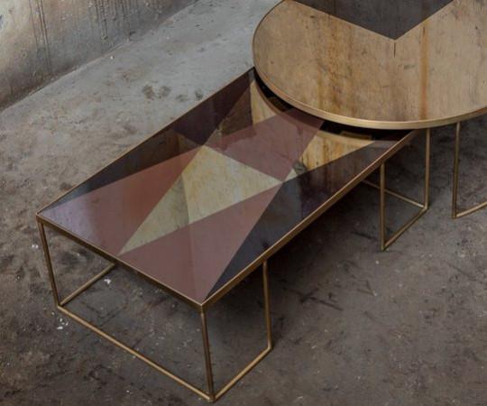 Notre Monde Geometric sofabord - rektangulært