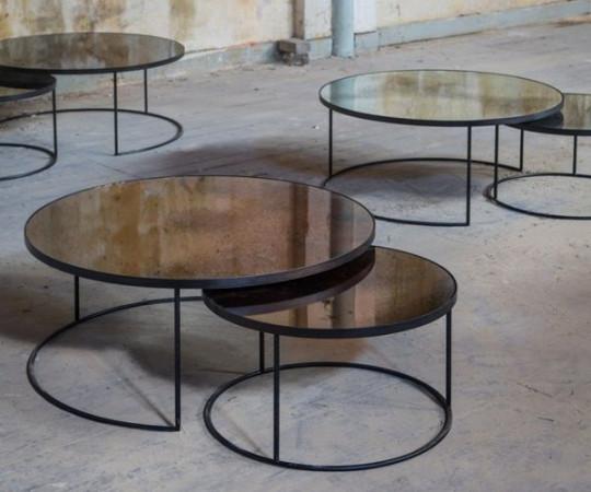 Notre Monde Bronze Nesting sofaborde - sæt á 2