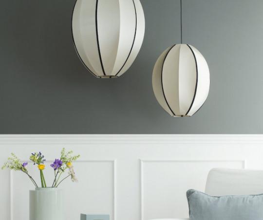 Oi Soi Oi Oval Silk lampeskærm - small