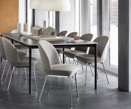 Muuto Oslo Side Chair - Ocean 32/Chrome