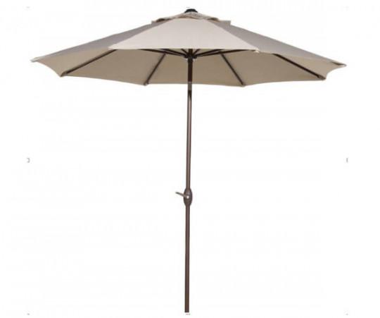 Royal Teak Parasol Rund Beige 280cm