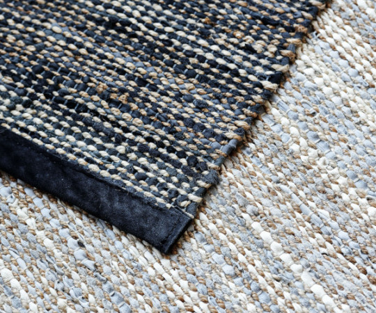 Rug Solid jute - 75x200 - Smooth Grey