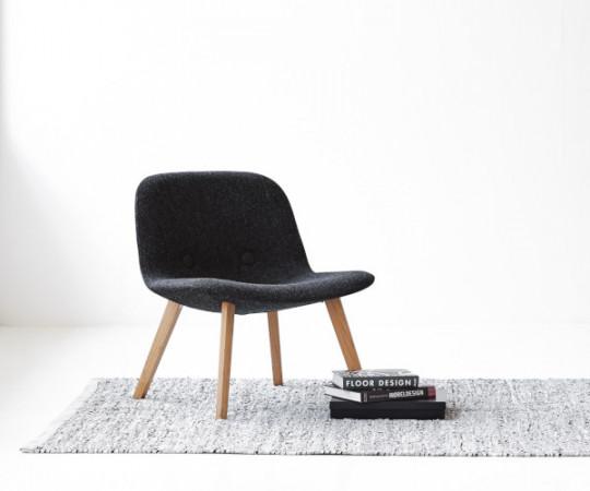 Rug Solid læder tæppe - 60x90 - Light Grey