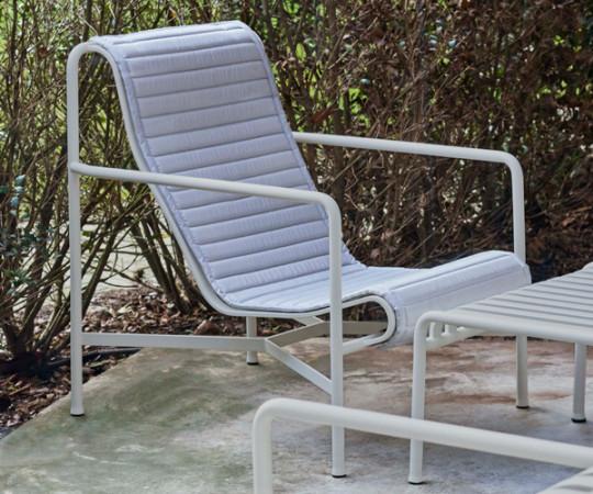 HAY Palissade Høj Lounge Stol - Sky Grey