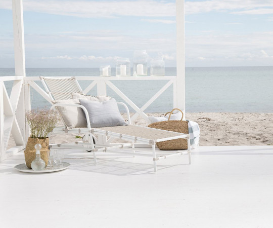 Sika Design Josephine liggestol - Dove White - Inkl. Hynde