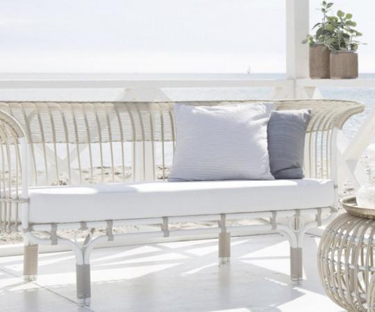Sika Design Belladonna Alu Sofa - dove white - Inkl. hynde