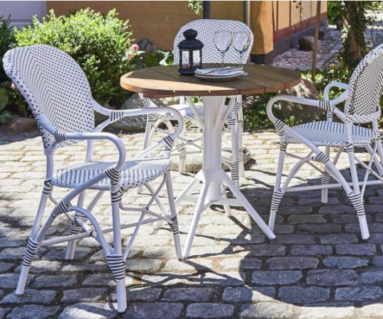 Sika Design Isabell Alu stol - med arm - hvid
