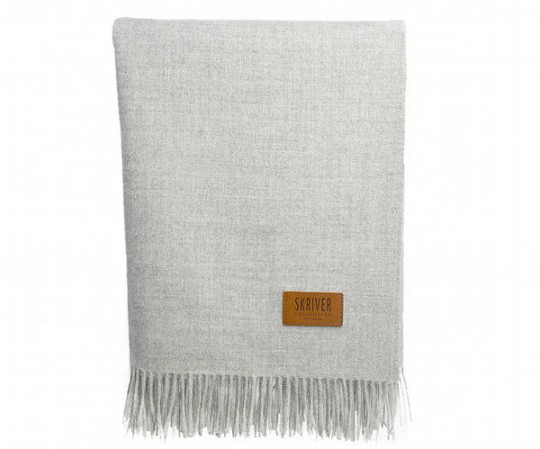 Skriver baby alpaca plaid - Light grey