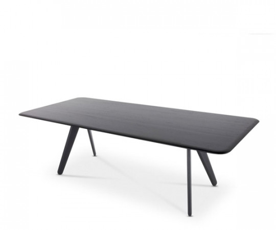 Tom Dixon Slab spisebord - 240cm - sort eg