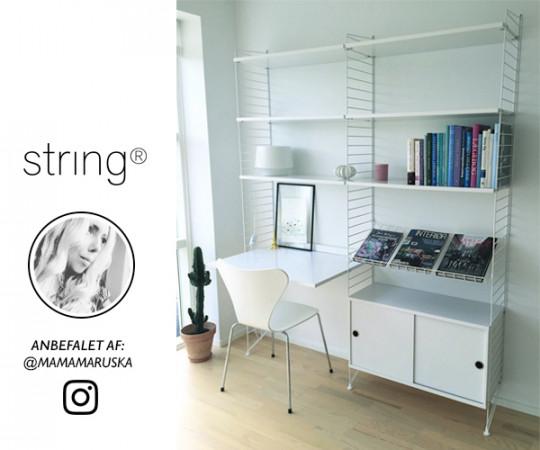 String modulreol hvid - Mamamaruska Instagram Edition