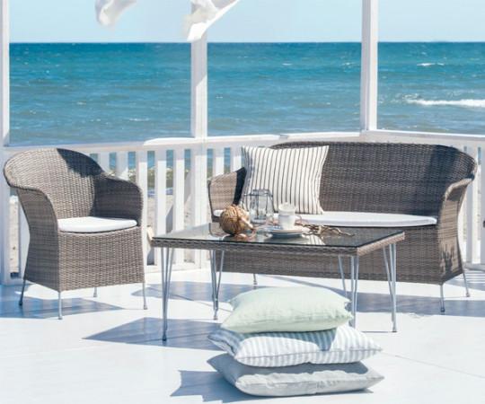 Sika Design Athene Loungesofa - Teak Grey