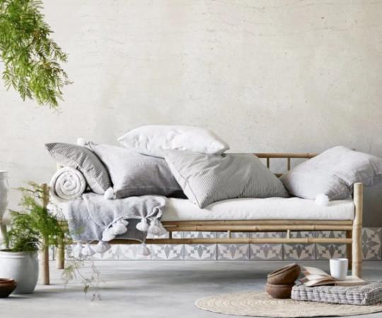 Tine K Home Bambus loungesofa - grå hynde