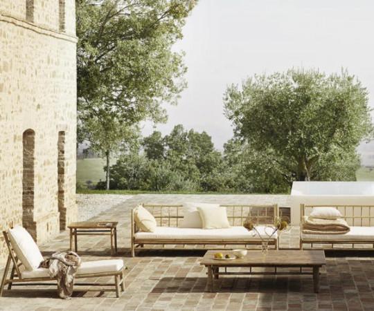 Tine K Home Bambus loungesofa - hvid hynde