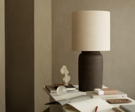 Tine K Home hør lampeskærm - 35x35 - shadow