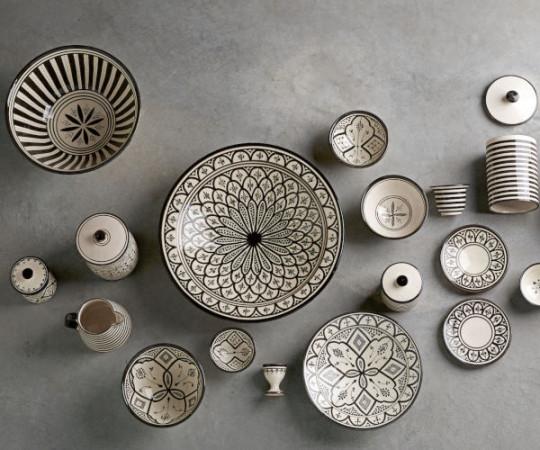 Tine K Home Marokko tallerken - 15 cm - grå