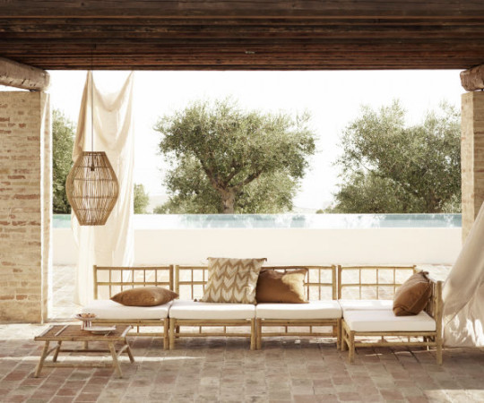 Tine K Home Bambus lounge modul - grå hynde