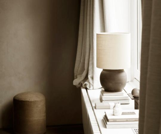 Tine K Home hør lampeskærm - 30x30 - shadow