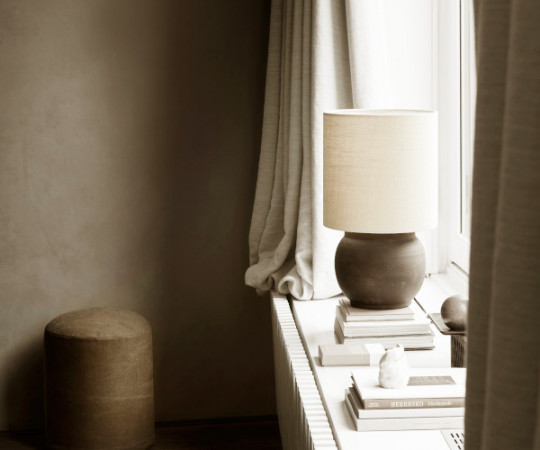 Tine K Home hør lampeskærm - 25x25 - shadow