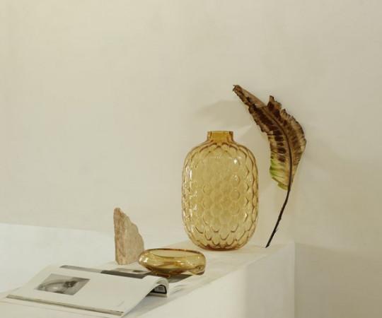 Tine K Home Crystal gulv vase - 50x34 - amber