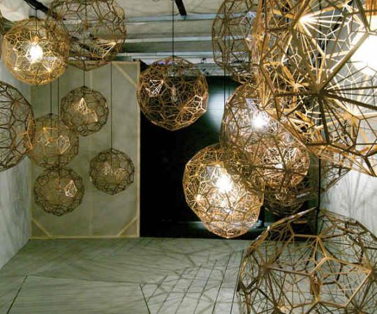 Tom Dixon Etch Light Web Brass