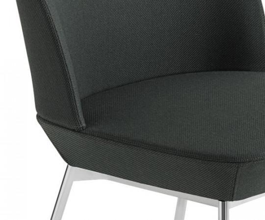 Muuto Oslo Side Chair - Twill Weave 990/Chrome