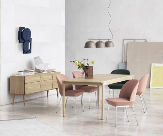 Muuto Oslo Side Chair - Twill Weave 530/Chrome