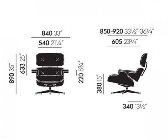 Vitra Eames Lounge Chair Inkl. skammel - Santos