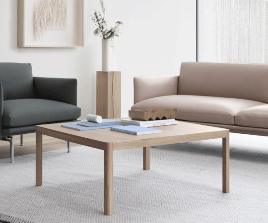Muuto Workshop Coffee Table - Oak - 86x86 cm.