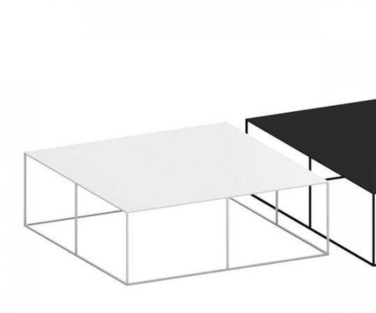 Zeus Slim Irony - Sofabord Kvadratisk - Hvid 100x100cm