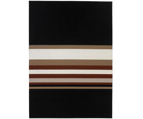 Woodnotes Horizon tæppe sort