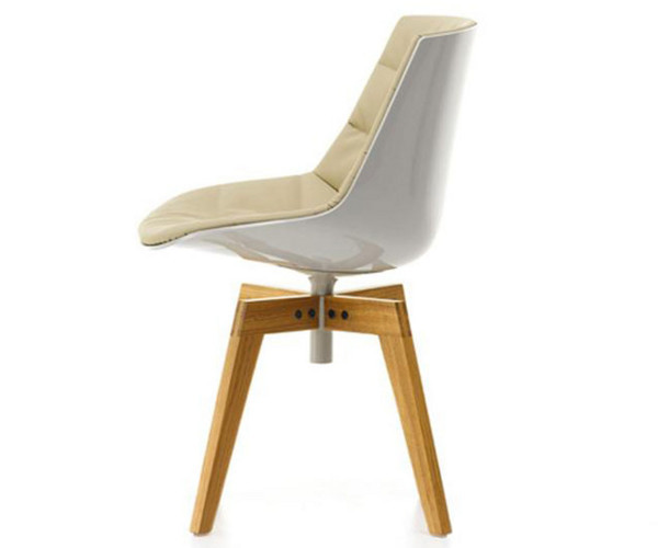 Mdf Italia Flow Chair Wood Frontpolstret